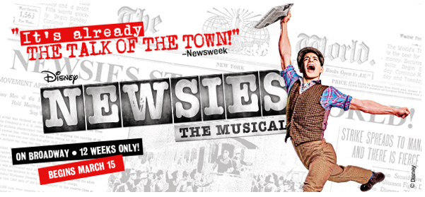 Charitybuzz: 2 Producer's House Seats to NEWSIES on Broadway Plus ...
